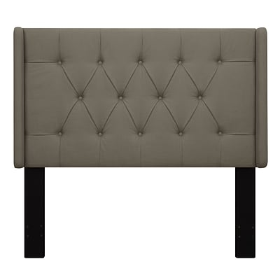 Right2Home Shelter Button Tufted King Polyester Headboard 77.4 L x 7.8 W x 60.0 H Taupe (DS-D017-270-373)