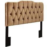 Right2Home Soft Shape Full / Queen Polyester Headboard 65.0 L x 4.0 W x 58.5 H Velvet Bronze (DS-