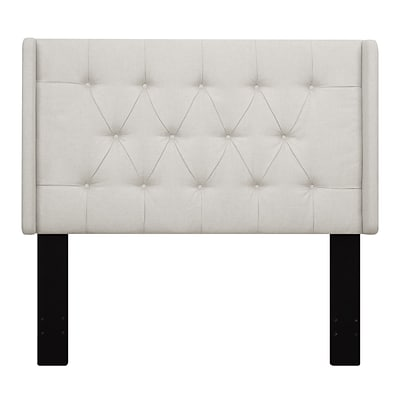 Right2Home Shelter Button Tufted King Polyester Headboard 77.4 L x 7.8 W x 60.0 H Linen (DS-D017-270-432)