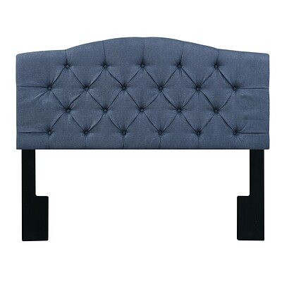 Right2Home Camel Back Full / Queen Polyester Headboard 65.5 L x 4.0 W x 58.25 H Denim Darkwash (DS-D044-250-343)