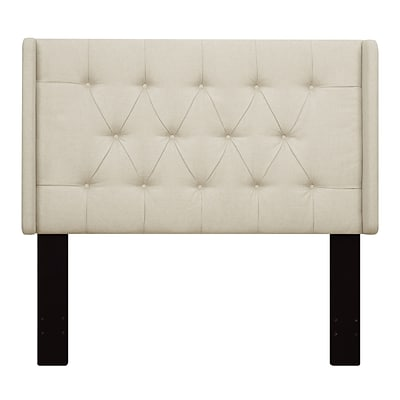 Right2Home Shelter Button Tufted Full / Queen Polyester Headboard 64.5 L x 7.8 W x 60.0 H Beige (DS-D017-250-433)