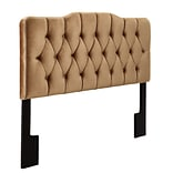 Right2Home Soft Shape Full / Queen Polyester Headboard 80.7 L x 4.0 W x 58.5 H Velvet Bronze (DS-