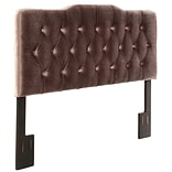 Right2Home Soft Shape Queen Polyester Headboard 65.0 L x 4.0 W x 58.5 H Velvet Slate (DS-2534-250
