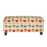 Right2Home Hinged Top Storage Bed Bench in Mandela Persimmon (DS-D107002-584)