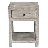 Right2Home Reclaimed Wood Side Table White (DS-D146-001)