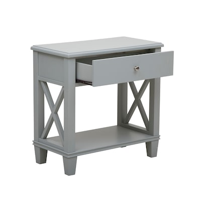 Right2Home Grey Open 'X' Leg Side Table Grey (DS-A092017)