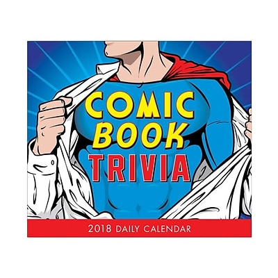 2018 Sellers Publishing, Inc. 5 x 6 Comic Book Trivia Boxed Daily Calendar (CB0251)