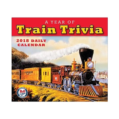 2018 Sellers Publishing, Inc. 5 x 6 Year Of Train Trivia, A: B+O Railroad Museum Boxed Daily Calendar (CB0272)