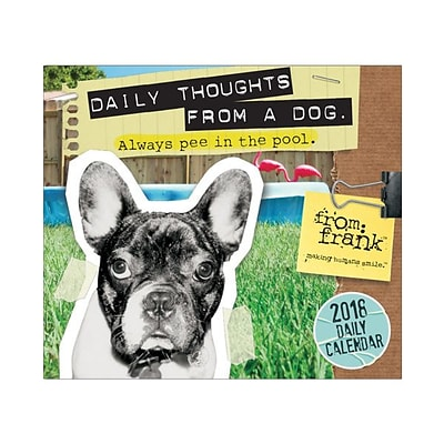 2018 Sellers Publishing, Inc. 5 x 6 From Frank™: Daily Thoughts From A Dog Boxed Daily Calendar (CB0248)