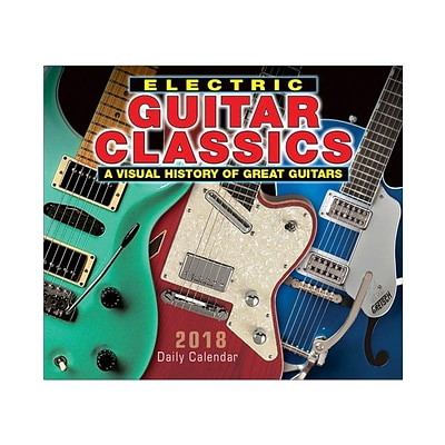 2018 Sellers Publishing, Inc. 5 x 6 Electric Guitar Classics: A Visual History Of Great Guitars Boxed Daily Calendar (CB0246)