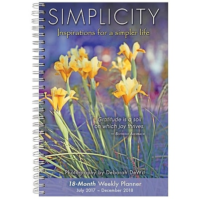2018 Sellers Publishing, Inc. 9 x 6 Simplicity: Inspirations For A Simpler Life (CW0226)