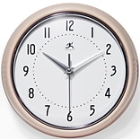 Infinity Instruments 9.5 Round Wall Clock, Pink Finish  (10940PN)