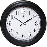 Infinity Instruments 24 Round Wall Clock, Black Finish  (15212BK-4025)