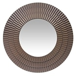 Infinity Instruments 22 Round Wall Mirror, Antique Brass Finish  (15369AG)