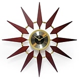 Infinity Instruments 30 Round Wall Clock, Walnut Finish  (15371WL)