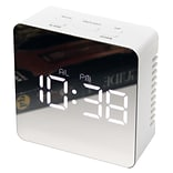 Infinity Instruments 3.25 Square Tabletop Clock, White Finish  (15375WH)