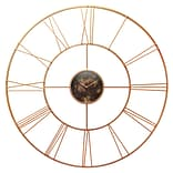 Infinity Instruments 45.25 Round Wall Clock, Rose Gold Finish  (15382RG)