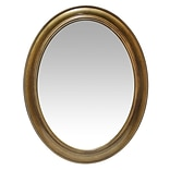 Infinity Instruments 30 Oval Wall Mirror, Brushed Gold Finish  (15384AG)