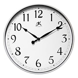 Infinity Instruments 18 Round Wall Clock, Silver Finish  (15419SV-1567)