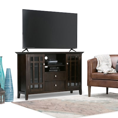 "Simpli Home Bedford 53""w Tv Stand In Tobacco Brown (3axcbed 01)"
