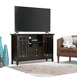Simpli Home Bedford 53W TV Stand in Tobacco Brown (3AXCBED-01)
