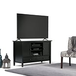 Simpli Home Warm Shaker 47W TV Stand in Black (AXWSH004-BL)