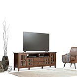 Simpli Home Artisan 72W TV Stand in Medium Auburn Brown (AXCHOL005-72)