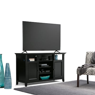 "Simpli Home Amherst 54""w Tv Stand In Black (axcamh Tv Bl)"