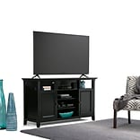 Simpli Home Amherst 54W TV Stand in Black (AXCAMH-TV-BL)