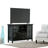 Simpli Home Artisan 53W TV Stand in Black (AXCHOL005-BL)