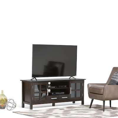 "Simpli Home Kitchener 60""w Tv Stand In Dark Walnut Brown (3axcridtv 60w)"