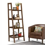 Simpli Home Sawhorse 72H Ladder Shelf in Medium Saddle Brown (3AXCSAW-05)