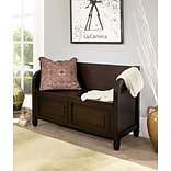 Simpli Home Connaught Entryway Storage Bench in Dark Chestnut Brown (3AXCCON-09)