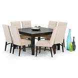 Simpli Home Eastwood 54 Square Dining Table in Java Brown (3AXCDNT-002)