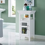 Simpli Home Avington 30H Floor Storage Cabinet in White (AXCBC-003-WH)