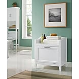 Simpli Home Avington 24.25H Hamper Bench in White (AXCBC-004-WH)