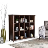 Simpli Home Acadian 48H 12 Cube Storage in Tobacco Brown (AXWELL3-015)