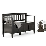 Simpli Home Brooklyn Entryway Bench in Black (3AXCBROBEN-BL)