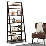 Simpli Home Acadian 72H Bookcase in Tobacco Brown (AXWELL3-016)