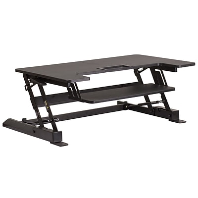 Flash Furniture 6.25 - 16.50H Sit/Stand Platform Desk, Black (JEJNLD02A1B)