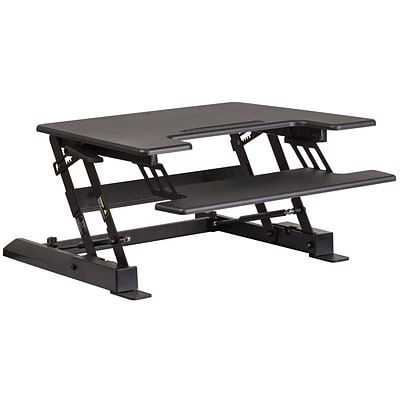 Flash Furniture 6.50 - 16.50H, Sit/Stand Platform Desk, Black (JEJNLD02SB)