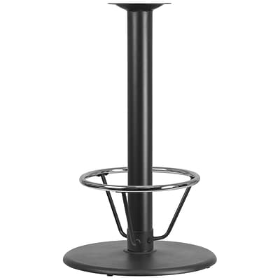 Flash Furniture Chrome 24 Bar Height Base Black (XUTR24BAR4CFR)
