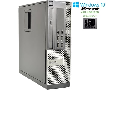 Refurbished DELL Optiplex 990 Small Form Factor Core I5 2400 3.1GHz 8GB 128GB Solid State Drive DVD Windows 10 Pro