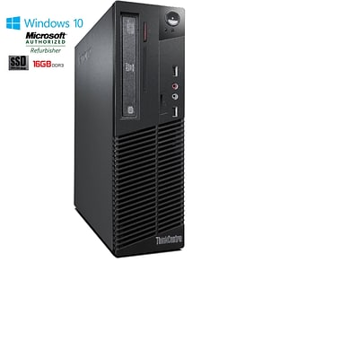 Lenovo M72 Small Form Factor Core I5 3470 3.2GHz 16GB 240GB Solid State Drive DVDRW Windows 10 Pro