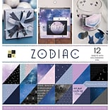 American Crafts Zodiac, DCWV Double-Sided Paper Stack, 12X12, 12 W/Holographic Foil, 36/Pkg (PS005