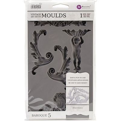Prima Marketing Baroque #5 Iron Orchid Designs Vintage Art Decor Mould  (814816)