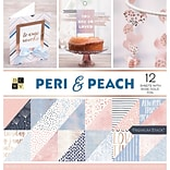 American Crafts Peri & Peach, 12 W/Rose Gold DCWV Double-Sided Paper Stack 12X12, 36/Pkg (PS005589