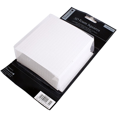 Trimcraft 2mm Thick - 400 Squares Per Sheet Dovecraft 3D Foam Squares, 5mm x 5mm, Value Pack 20 Sheets (DCBS01X)