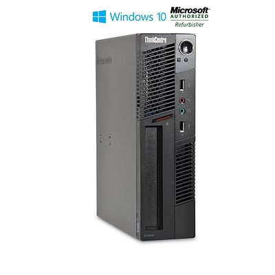 Refurbished Lenovo M91 Ultra Small Form Factor Core I3 2100  3.1ghz 4GB 250GB DVD Windows 10 Pro Mar (CNB1-8748)