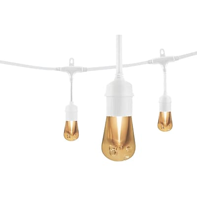 Enbrighten Cafe 35646 Vintage LED Café Lights (24ft; 12 Acrylic Bulbs)